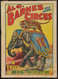 """Movie Posters:Miscellaneous, Al. G. Barnes Circus (1920s). Circus Poster (20.75"""" X 28""""). ..."""