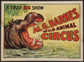 """Movie Posters:Miscellaneous, Circus Poster (Al G. Barnes,1930s). Poster (20"""" X 28"""").Miscellaneous.. ..."""