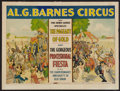 """Movie Posters:Miscellaneous, Al. G. Barnes Circus (1920s). Circus Poster (21' X 27.5"""").. ..."""