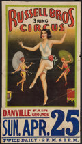 """Movie Posters:Miscellaneous, Russell Brothers Circus (Russell Bros., 25 Apr 1937). Circus Poster. (20"""" X 28""""). Circus.. ..."""