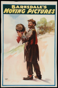 "Barnsdale's Moving Pictures (Barnsdale, 1905). One Sheet (27"" X 41""). Silent"