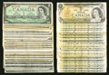 Canadian Currency: , A Potpourri of Canadian $1 Notes. Very Good or Better.. ... (Total:53 notes)