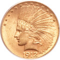 Indian Eagles, 1912-S $10 MS62+ PCGS....