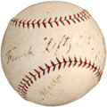 Baseball Collectibles:Balls, Frank Lefty O'Doul Signed Baseball....