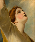 Fine Art - Painting, European:Antique  (Pre 1900), Manner of JOSHUA REYNOLDS (British, 1723-1792). Faith (after awindow design for the Chapel at the New College, Oxford)...