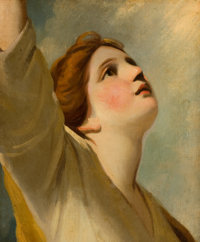 Manner of JOSHUA REYNOLDS (British, 1723-1792) Faith (after a window design for the Chapel at the New College