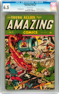 Golden Age (1938-1955):Superhero, Amazing Comics #1 (Timely, 1944) CGC FN+ 6.5 Off-white pages....