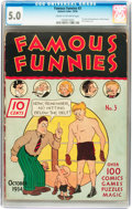 Platinum Age (1897-1937):Miscellaneous, Famous Funnies #3 (Eastern Color, 1934) CGC VG/FN 5.0 Cream tooff-white pages....