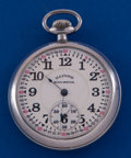 Timepieces:Pocket (post 1900), Illinois 21 Jewel Bunn Special Pocket Watch With A ReproductionDial. ...