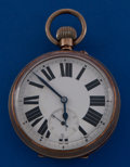 Timepieces:Pocket (post 1900), Swiss Over Sized Running Pocket Watch. ...