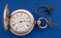 Timepieces:Pocket (pre 1900) , Columbus 18 Size Key Wind 6 Oz. Coin Silver Hunter's Case PocketWatch. ...