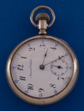Timepieces:Pocket (post 1900), Manistee Watch Co. 16 Size 17 Jewel Pocket Watch. ...