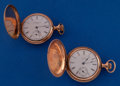 Timepieces:Pocket (post 1900), Two - Elgin's 6 Size Multi-Color Hunter's Cases Pocket Watches Runners. ... (Total: 2 Items)