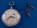 Timepieces:Pocket (pre 1900) , Swiss 58 mm Running Verge Fusee Pocket Watch. ...