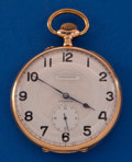 Timepieces:Pocket (post 1900), Swiss Large 55 mm 18k Gold Pocket Watch. ...