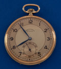 Art Glass:Daum, Eterna 14k 46 mm Pocket Watch. ...