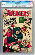 Silver Age (1956-1969):Superhero, The Avengers #4 Boston pedigree (Marvel, 1964) CGC NM 9.4 Off-white pages....
