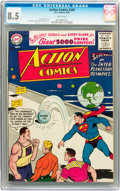 Silver Age (1956-1969):Superhero, Action Comics #220 (DC, 1956) CGC VF+ 8.5 White pages....