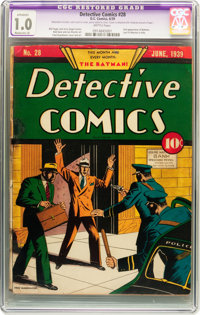 Detective Comics #28 (DC, 1939) CGC Apparent FR 1.0 Moderate (A) Brittle pages