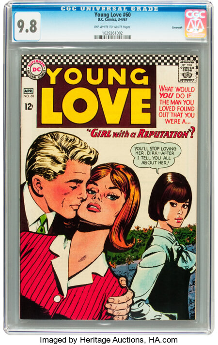 Young Love #60 Savannah pedigree (DC, 1967) CGC NM/MT 9.8 Off-white to white pages....