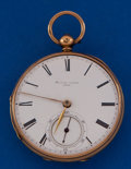 Timepieces:Pocket (pre 1900) , Barwise London 18k Gold 45 mm Lever Fusee. ...
