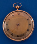 Timepieces:Pocket (pre 1900) , Godemar, Early Rose Gold Cylinder, circa 1830's. ...