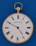 Timepieces:Pocket (post 1900), Chopard 18k Coin Style Case For Henry Birks & Sons. ...