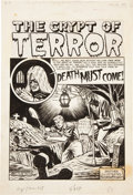 "Original Comic Art:Splash Pages, Al Feldstein The Crypt of Terror #17 ""Death Must Come""Splash Page 1 Original Art (EC, 1950)...."