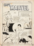 Original Comic Art:Splash Pages, George Tuska Captain Marvel Adventures #2 Title PageOriginal Art (Fawcett, 1941)....