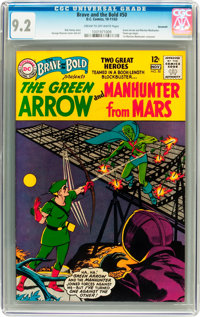 The Brave and the Bold #50 Green Arrow and Martian Manhunter - Savannah pedigree (DC, 1963) CGC NM- 9.2 Cream to off-whi...