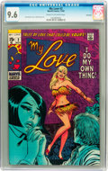 Silver Age (1956-1969):Romance, My Love #2 Savannah pedigree (Marvel, 1969) CGC NM+ 9.6 Cream to off-white pages....
