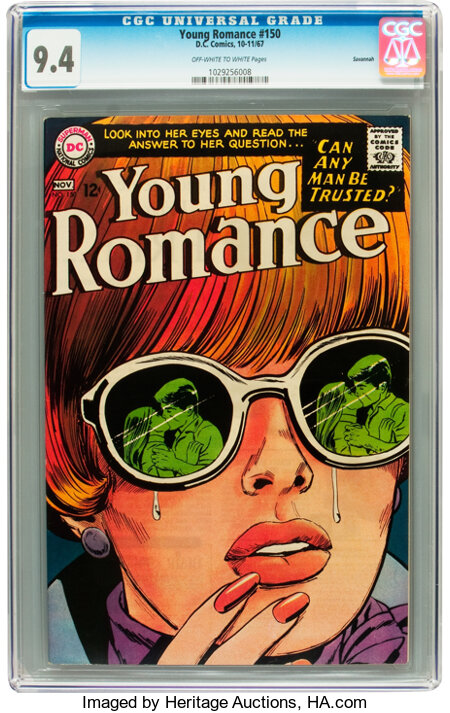 Young Romance #150 Savannah pedigree (DC, 1967) CGC NM 9.4 Off-white to white pages....