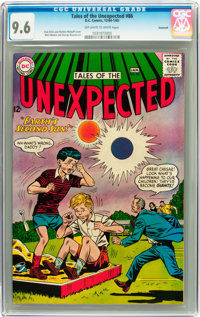 Tales of the Unexpected #86 Savannah pedigree (DC, 1965) CGC NM+ 9.6 Off-white to white pages