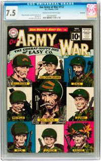 Our Army at War #112 Savannah pedigree (DC, 1961) CGC VF- 7.5 Cream to off-white pages