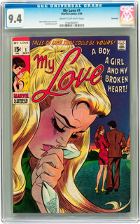 My Love #1 Savannah pedigree (Marvel, 1969) CGC NM 9.4 Cream to off-white pages