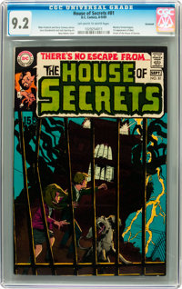 House of Secrets #81 Savannah pedigree (DC, 1969) CGC NM- 9.2 Off-white to white pages