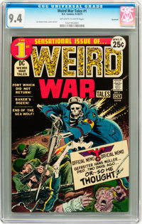 Weird War Tales #1 Savannah pedigree (DC, 1971) CGC NM 9.4 Off-white to white pages