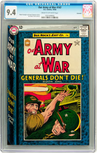 Our Army at War #147 Savannah pedigree (DC, 1964) CGC NM 9.4 Cream to off-white pages