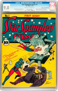 Star Spangled Comics #1 Mile High pedigree (DC, 1941) CGC VF/NM 9.0 Off-white to white pages
