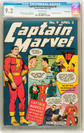 Golden Age (1938-1955):Superhero, Captain Marvel Adventures #9 Crowley Copy pedigree (Fawcett, 1942) CGC NM- 9.2 Off-white pages....