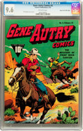Golden Age (1938-1955):Western, Gene Autry Comics #5 Mile High pedigree (Fawcett, 1943) CGC NM+ 9.6Off-white pages....