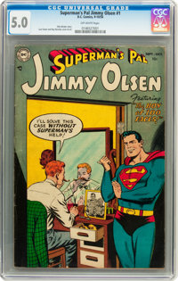 Superman's Pal Jimmy Olsen #1 (DC, 1954) CGC VG/FN 5.0 Off-white pages