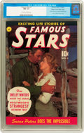 Golden Age (1938-1955):Miscellaneous, Famous Stars #1 Mile High pedigree (Ziff-Davis, 1950) CGC NM 9.4 Off-white to white pages....