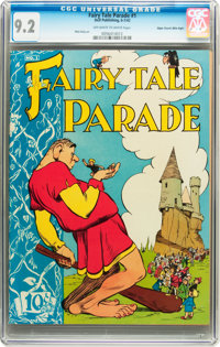 Fairy Tale Parade #1 Mile High pedigree (Dell, 1942) CGC NM- 9.2 Off-white to white pages