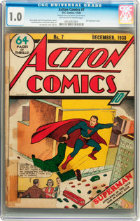 Action Comics #7 (DC, 1938) CGC FR 1.0 Off-white to white pages