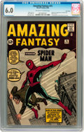 Silver Age (1956-1969):Superhero, Amazing Fantasy #15 Twin Cities pedigree (Marvel, 1962) CGC FN 6.0 Off-white to white pages....