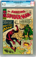 Silver Age (1956-1969):Superhero, The Amazing Spider-Man #5 Twin Cities pedigree (Marvel, 1963) CGCNM- 9.2 Off-white to white pages....
