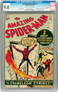 Books:Children's Books, The Amazing Spider-Man #1 Twin Cities pedigree (Marvel, 1963) CGCVF/NM 9.0 Off-white to white pages....