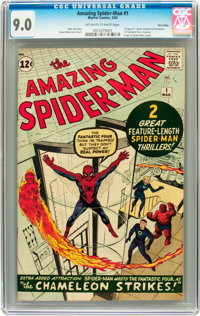 The Amazing Spider-Man #1 Twin Cities pedigree (Marvel, 1963) CGC VF/NM 9.0 Off-white to white pages