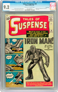 Tales of Suspense #39 Twin Cities pedigree (Marvel, 1963) CGC NM- 9.2 Off-white to white pages